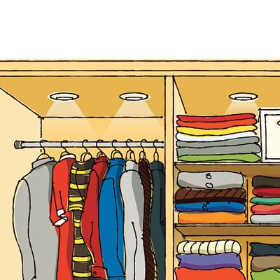 illustration of a well organized closet