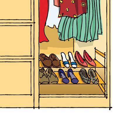 illustration of a well organized closet