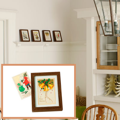 Holiday dining room framed artwork