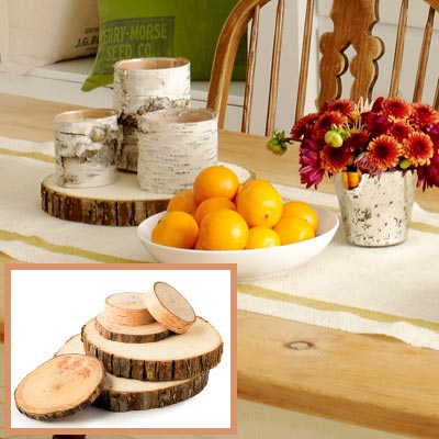 Holiday dining room tree-trunk platform