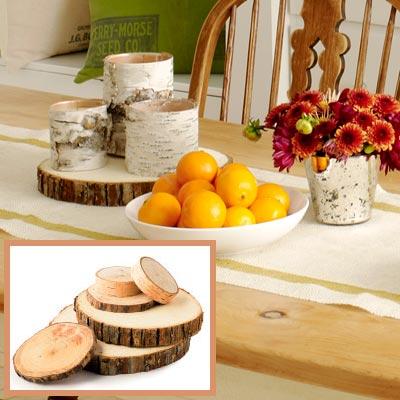 Holiday dining room tree-trunk platform