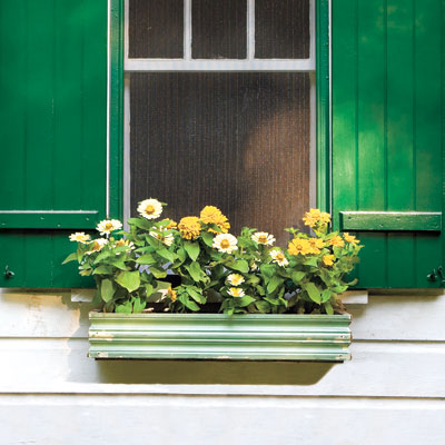 Window Box with Vintage Trim