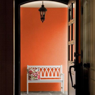 Go for rustic reds no fail paint colors for small spaces this old house mobile - Small entryway paint colors ...