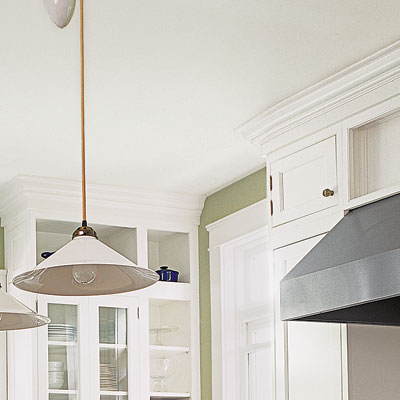 cornices around kitchen cabinets