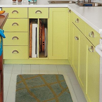 tight focus on kitchen cabinet pulls