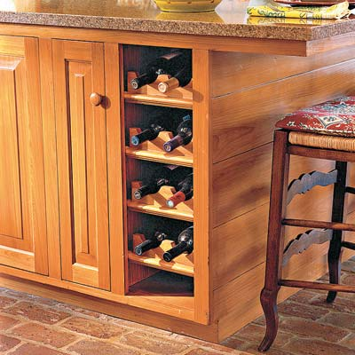a custom-made wine rack
