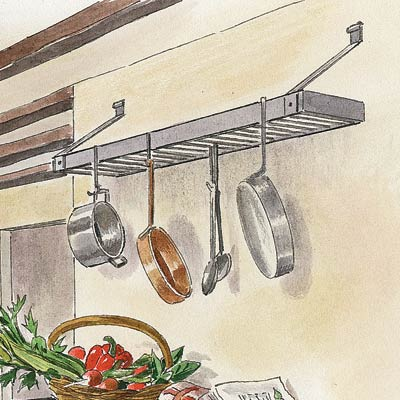 an illustration of a pot rack