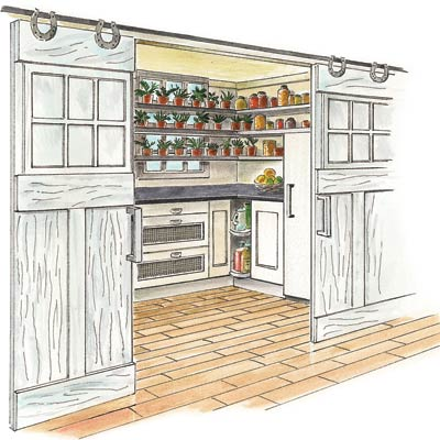 an illustration of a full kitchen pantry