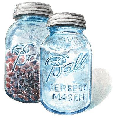 an illustration of mason jars
