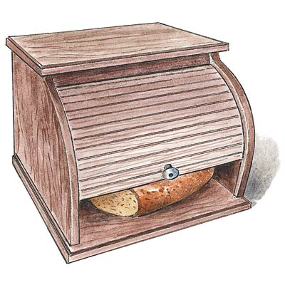 an illustration of a bread box