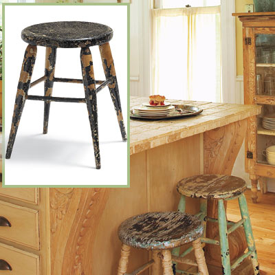 Salvaged bar stool