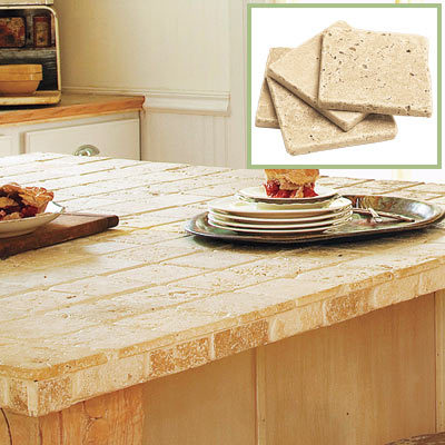 Tumbled Marble Countertop Create A Stylish Salvage