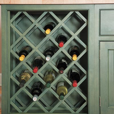 Cabinet wine rack