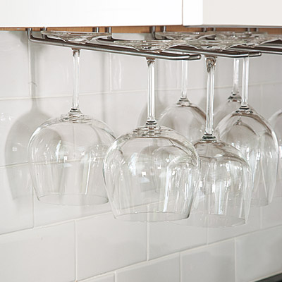 Under-cabinet stemware storage
