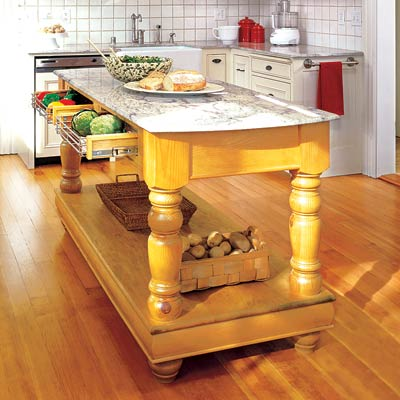 a NapaStyle kitchen island designed for working