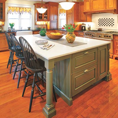 a Broyhill kitchen island designed for dining