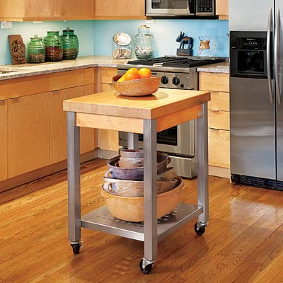 Portable Kitchen Island Blueprints