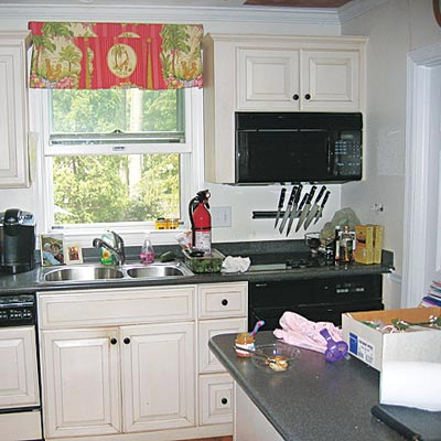 a small kitchen before renovation