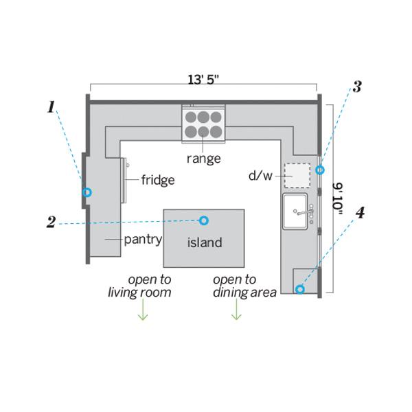 floor plan after kitchen remodel