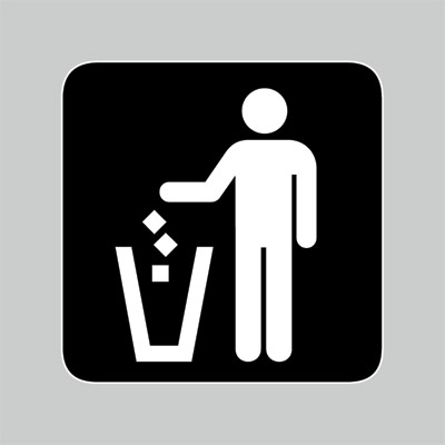 trash sign