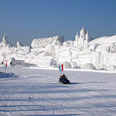 largest snow sculpture