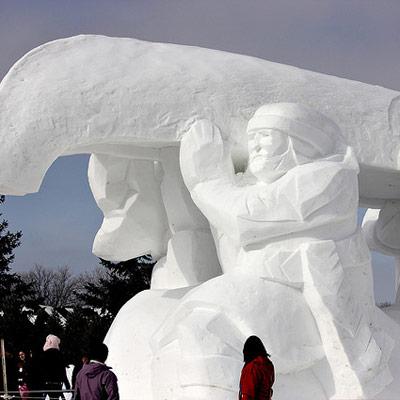 gigantic snow sculpture