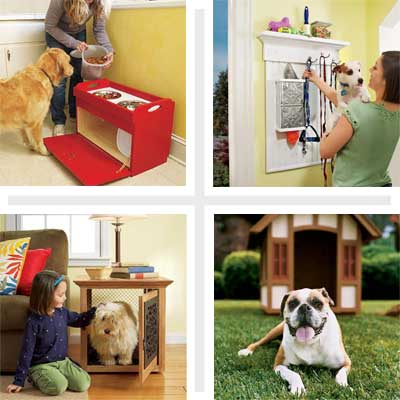 composite of four pet-friendly projects