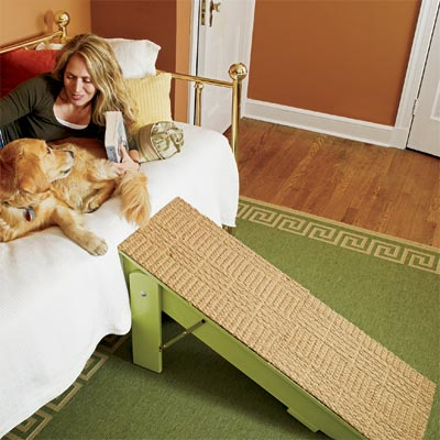 a dog ramp you can build as a pet-friendly project