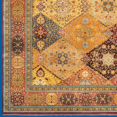 further detail of Indian made, Persian designed oriental rug from Safavieh Home Furnishings