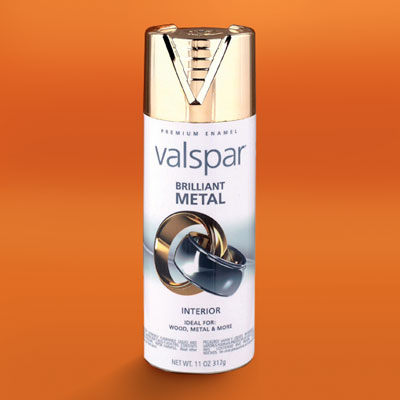 a can of Valspar's Metal spray paint