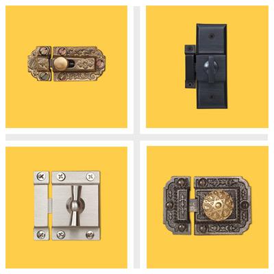 decorative vintage cabinet latches