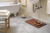 bathroom with vinyl floor
