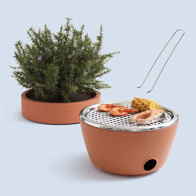 flower pot grill as one of the wackiest yard and garden products