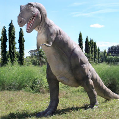 large t-rex outdoor sculpture as one of the wackiest yard and garden products