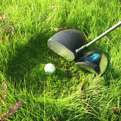 golf-club shaped string trimmer as of the wackiest yard and garden products