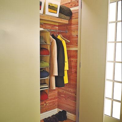 A cedar lined room closet
