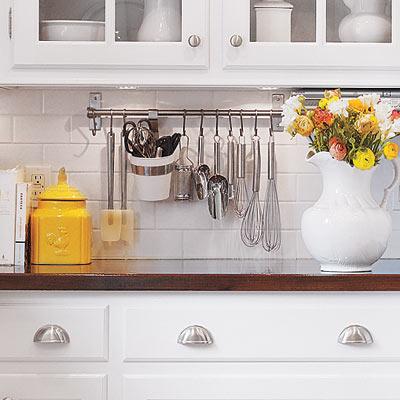 Hang kitchen utensils