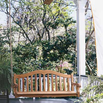 Install a porch swing