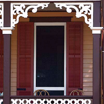 Add porch brackets