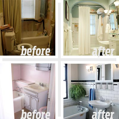 Reader remodel bathrooms bathroom design ideas for Bathroom renovation before and after