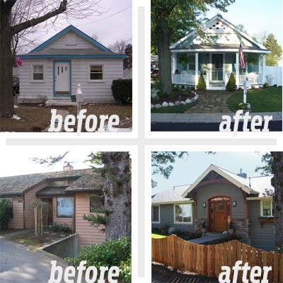2 separate before and afters for reader remodel curb appeal