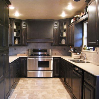 U Shaped Kitchen Remodel Before And After Delectable Kitchen  Openr Design Decoration