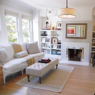 Reader living room after the remodel