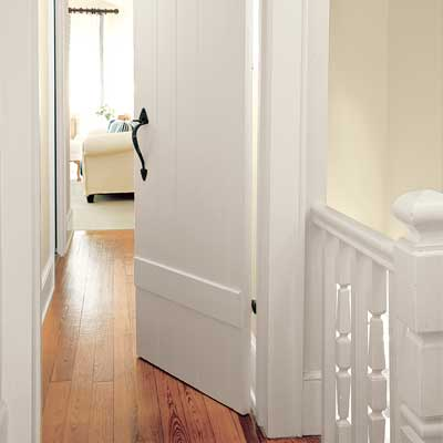 Master bedroom door of this Orlando colonial home