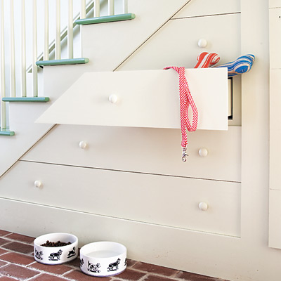 Stairs built-in dresser