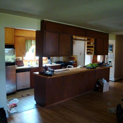 a family space remodel before