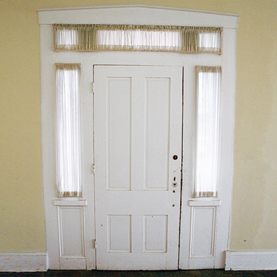 front door with original transom and sidelights in this indianapolis indiana save this old house