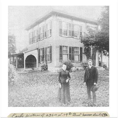 unidentified couple stands in front of this indianapolis indiana save this old house  in the early 1890s