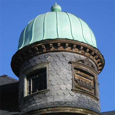 copper dome on this saginaw michigan queen anne victorian from save this old house 