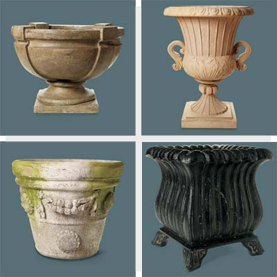 4 faux stone urns to spruce up a yard